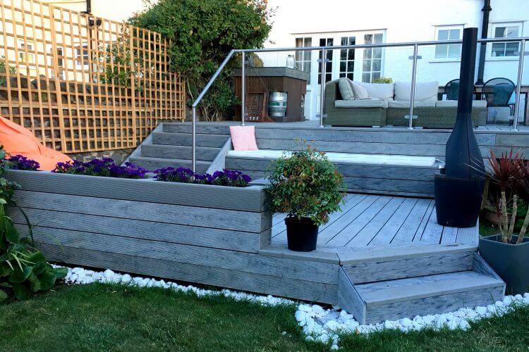 Heritage Driftwood Builddeck Composite Decking Garden