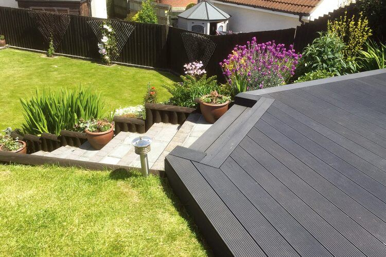Victoria Grey Builddeck Composite Decking Garden